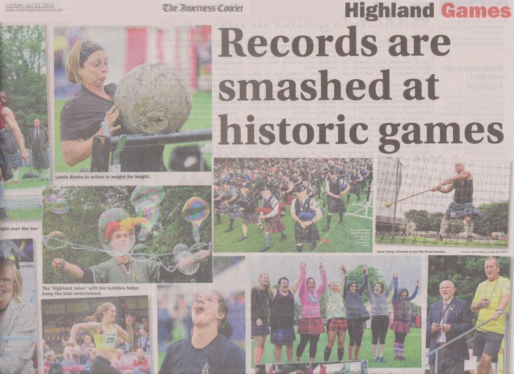 inverness courier article - Highland games 2014 (Large)